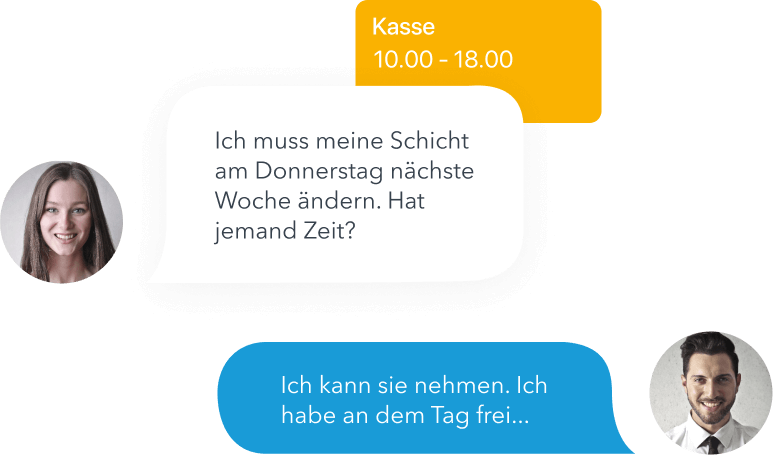 Messages from app
