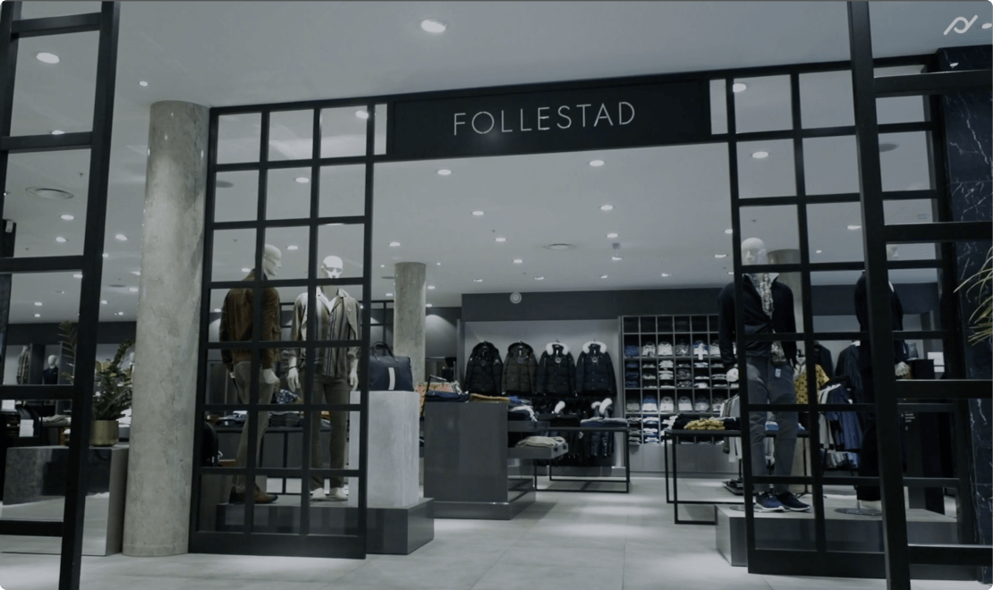 Entrance to the clothing store