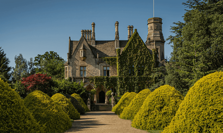 Castle with a garden