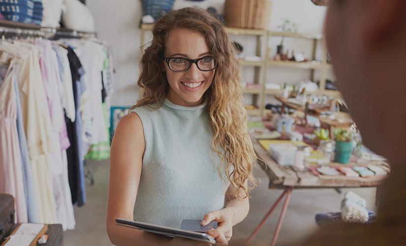 woman retail