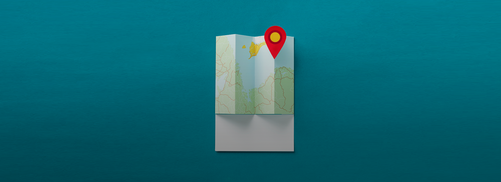 A pin on a map