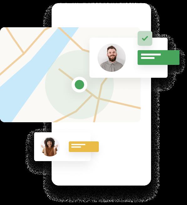 Location screenshot from app