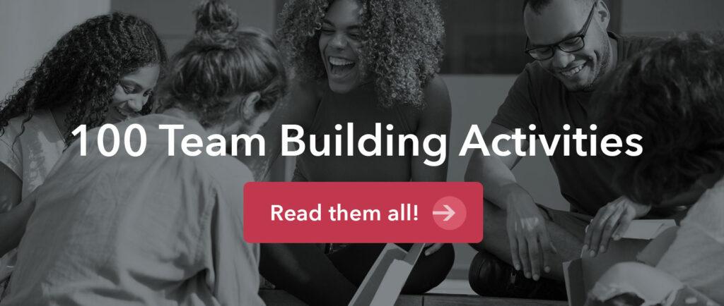 100 team building activities banner